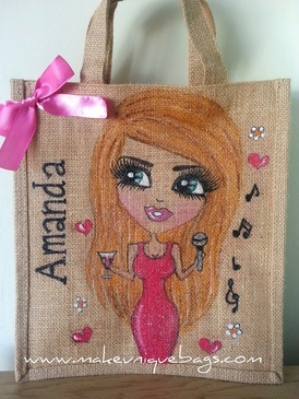 Small Personalised Jute Bag - Dollybags